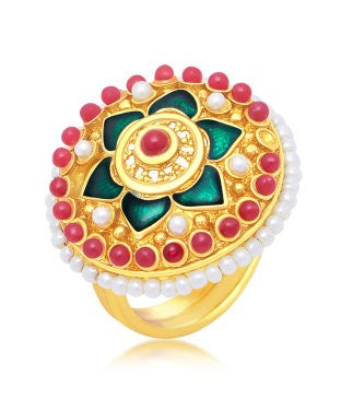 Sukkhi Amazing Gold Plated Ring For Women