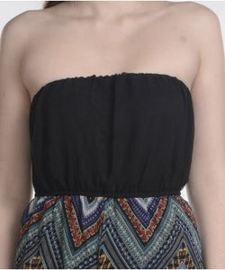 Entease Black And Multi Jump Suit