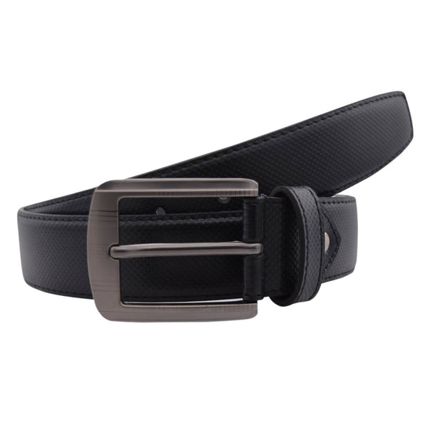 Baluchi's Black Textured Semi Formal Men's Belt $ BLC_PMB_3