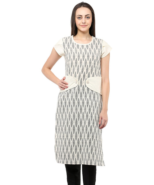 BEIGE COLOR COTTON HOMA KURTIS