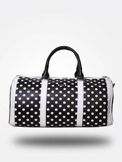 Strutt Women Black and White Polka Dot Cabin Baggage / Duffle Bag $ SMD536