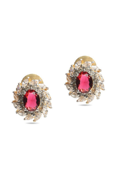 Red Bulb Earrings - JIGAEAR4353
