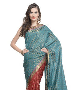 Brocade Art Silk Saree with Blouse