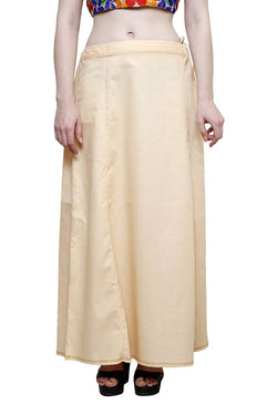 MY TRUST Cotton Beige Color Saree Petticoats $ PT-21