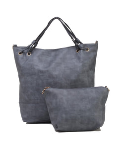 Fiona Trends Blue PU Shoulder Bag,6008_BLUE