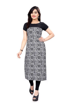 Manvi Fashion Women's Designer Partywear Multi Color American Crepe Fabric Digital Printed Readymade Kurti $ MF 2846