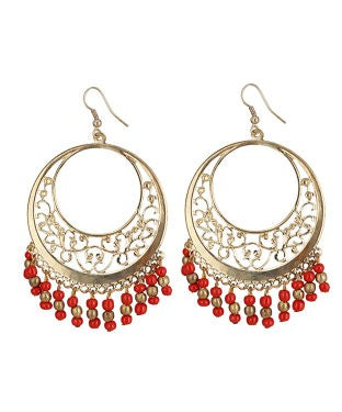 aradhya Beads Alloy Chandbali Earring, Dangle Earring