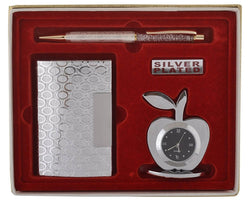 International Gift Office Pen Set (18 cm x 16 cm x 4 cm, Silver) $ SOS-105