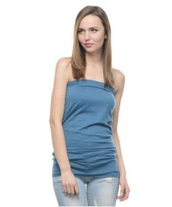 Alcott Teal Blue Tube Top