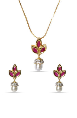 Bauble Burst Petals n Pearls Pendant Set