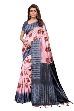 16to60trendz Magenta Art Silk Printed Mysore Art Silk Saree $ SVT00200