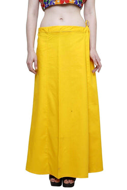 MY TRUST Cotton Yellow Color Saree Petticoats $ PT-12