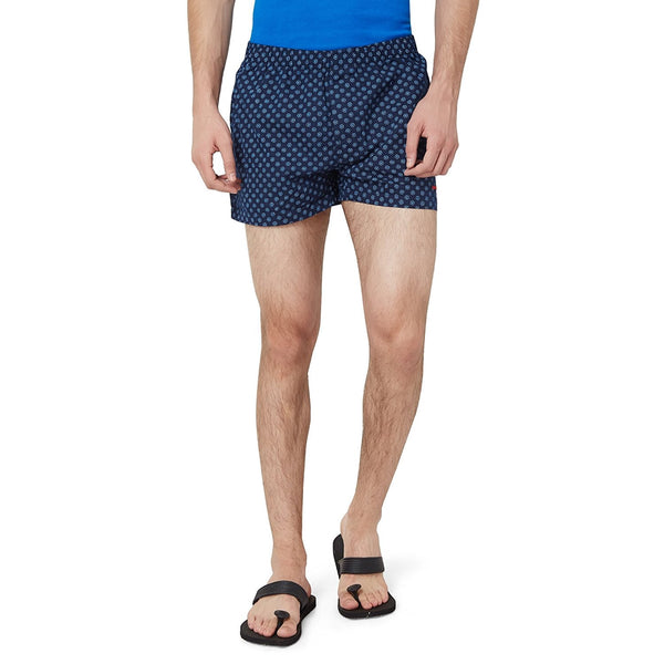 Hammock Men's Circle Print Boxer Shorts - Navy Blue/White-H19D34J501OS