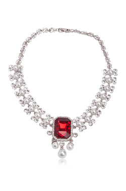 BAUBLE BURST Ruby Glow Necklace