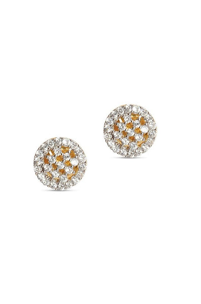 Bauble Burst Sparkle Button Earrings