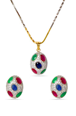 BAUBLE BURST Satrangi Pendant Set