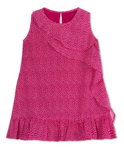 Budding Bees Girls Red Polka Dot Frilled A-Line Dress