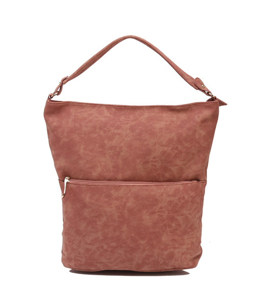 Fiona Trends Brown PU Shoulder Bag,6606_BROWN