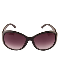 Oval Black Sunglasses For Women-AD_1220_BlackPurple