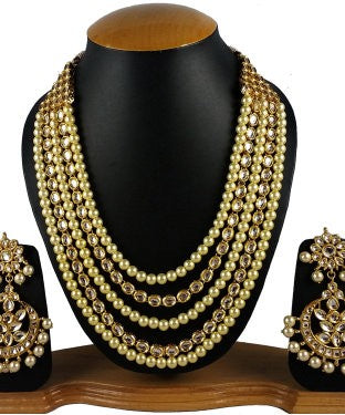 Aradhya Stone Jewel Set (Gold)