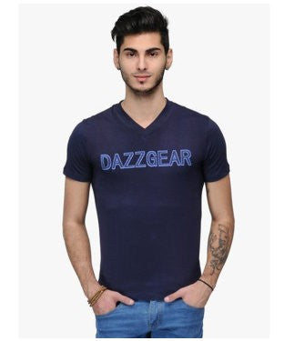 Dazzgear Men's Blue V Neck MTV-68 T-Shirt