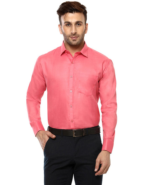 Lee Marc Full Sleeve Lm Dark Cherry Formal Shirt