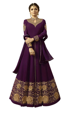 YOYO Fashion Georgette Anarkali Semi-Stitched salwar suit $ F1296