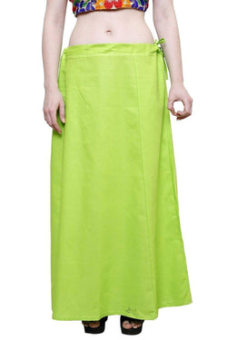 MY TRUST Cotton Light Green Color Saree Petticoats $ PT-1
