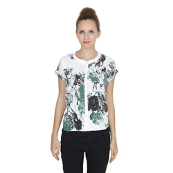 Second Half White n Green Shirt-SH0006