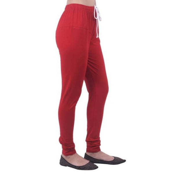 Amihgo Women's Red Churidar Cotton Legging-Free Size $ MAH40001