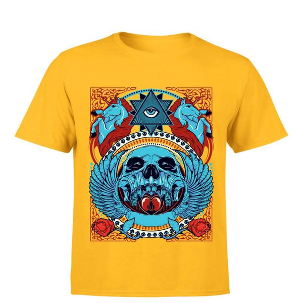 Partum Corde Premium Men's Modern Fit Round Neck T shirt THIRD EYE $ THIRD EYE1648