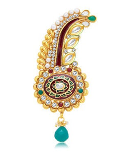 Sukkhi Creative Gold Plated Kilangi Brooch For Men