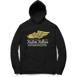 Partum Corde Unisex Black Sweat Shirts And Hoodies Kustom Kulture Eagle $ Kustom Kulture Eagle6016