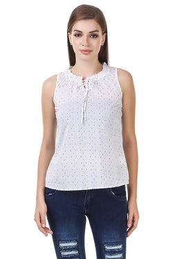 Fashians printed White Cotton Top $ FS-1700012