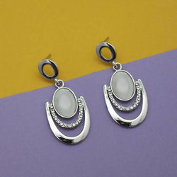 Tanishka Fashion Resin And Austrian Stone Silver Plated Dangler Earrings $ 1315404