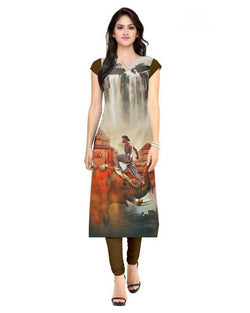 Muta Fashions Women's Semi Stitched Casual American Crepe Multi Color Kurti $ KURTI69