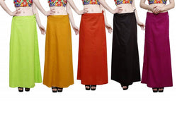 MY TRUST Cotton Multi Color Color Saree Petticoats $ PE-10