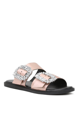 London Rag Women's Pink Double Strap Flat Sandals $ SH1573