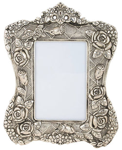 International Gift Silver Plated Photo Frame Oxidized Silver Finish with Beautiful Velvet Box Packing Exclusive Gift for Diwali Gift Items and Wedding Gift Items $ IGF-110