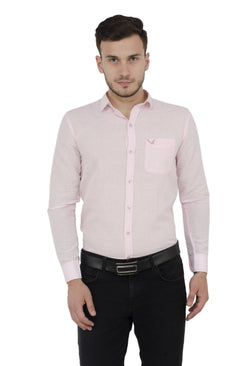 Baluchi Solid Regular Full Sleeve Linnen Pink Formal Shirt $ BLC_MNSHIRT_08