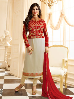 YOYO Fashion Bollywood Designer Satin Party Wear Straight Salwar Suit - F1154