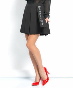 Irony Black Short Skirt