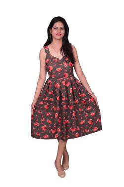 One Piece Dress,Libas Cotton Dress,Short Dress .Pure Muslin Fabric Short Flower Print Dress $ Libas-062