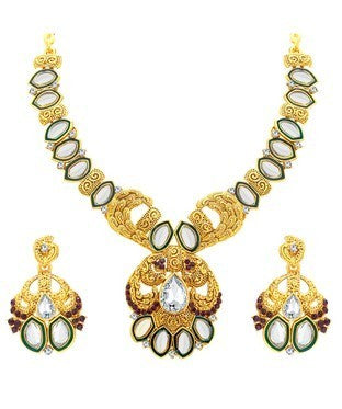 Sukkhi Elegant Gold Plated Kundan Necklace Set For Women