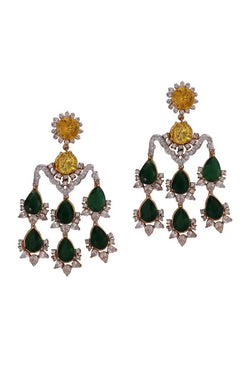 Emerald Allure Chandelier Earrings - JDMDEAR2061