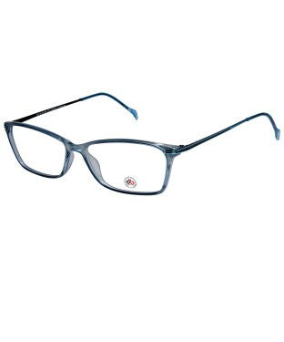 David Blake Blue Rectangular Full Rim EyeFrame