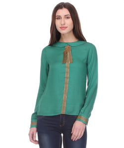 Glam a gal green f/s top