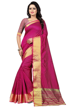 YOYO Fashion Latest Fancy Kota Dhupian Pink Saree $ SARI2581 Pink