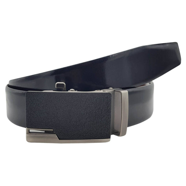 Baluchi's Armanto Textured Formal Reversible Leather Belt with Auto lock Buckle $ BLC_LMAUTORV_01