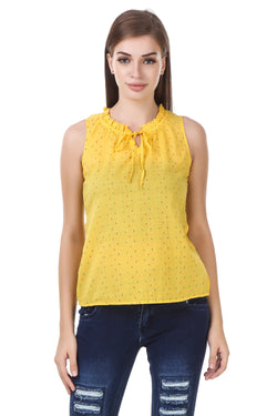Fashians printed Yellow Cotton Top $ FS-1700013